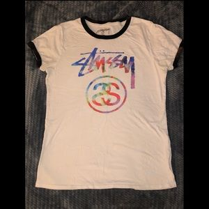 Stussy Rainbow Logo T- Shirt